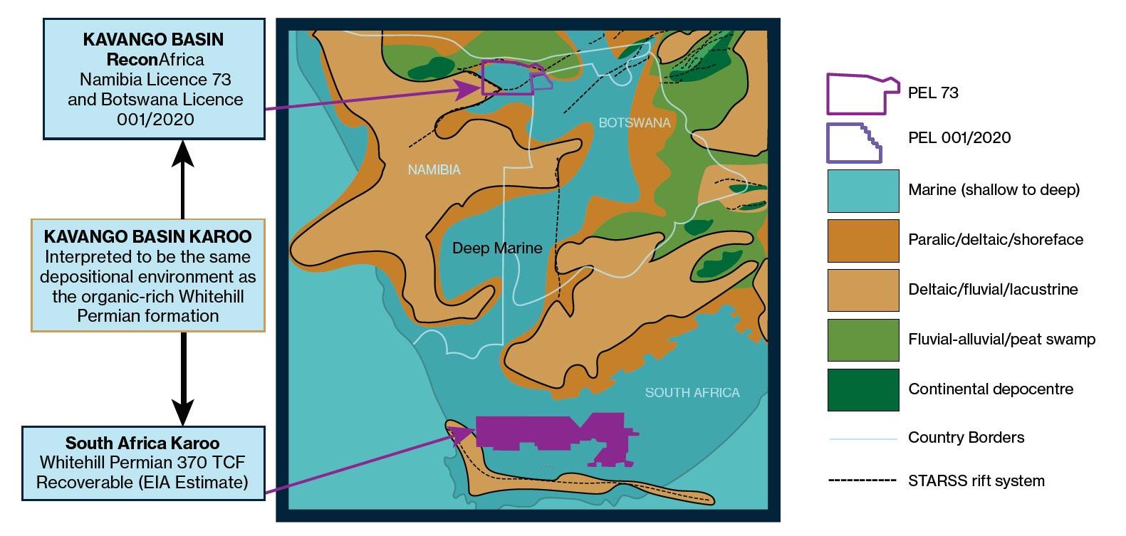 ReconAfrica Regional Karoo Permian Seaway