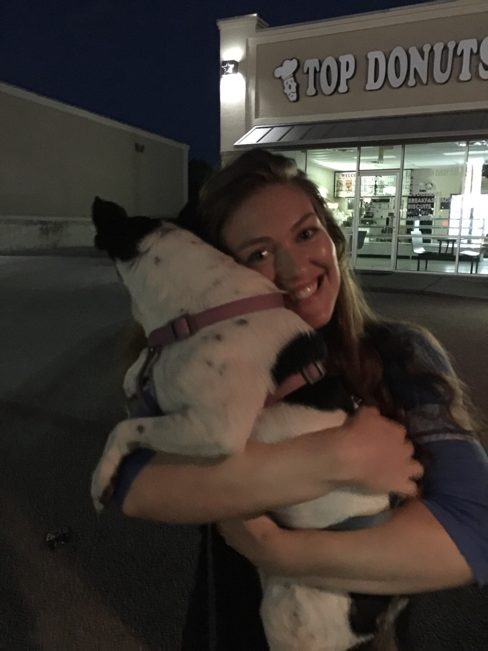 Dropoff for Vicki Jorgensen. Lola was delivered to her daughter-in-law Jessalyn. She looks so happy!