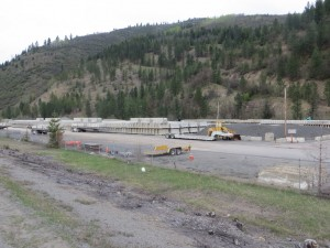 Barriers for the I-90 Mullan Ave to Montana State Line Project.