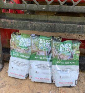 No-till seed blends like Boss Buck's Boss Blend is a great choice for remote food plots.oss Buck
