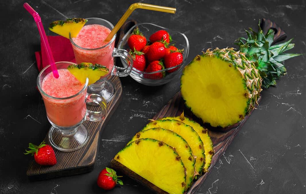 fruits and fruit shake