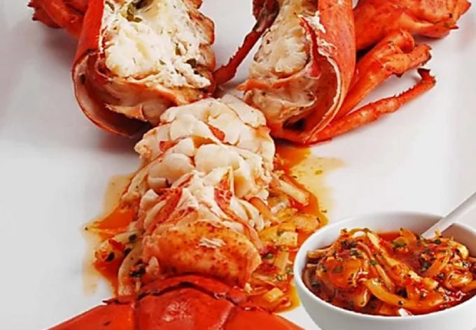 Lobster Azorean Style with Spicy Portuguese Sauce