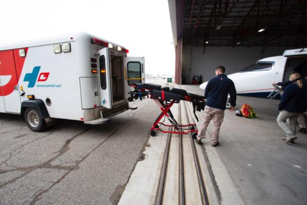 Ambulance transfer to Learjet
