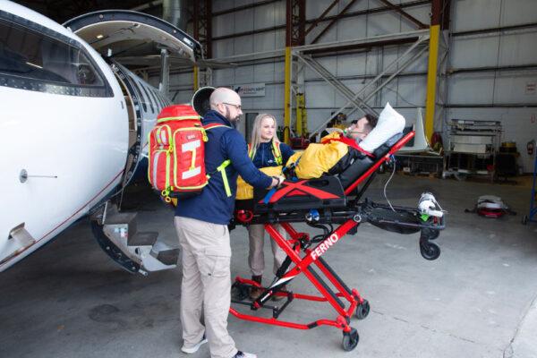 Fox Flight Patient Care Exterior Loading