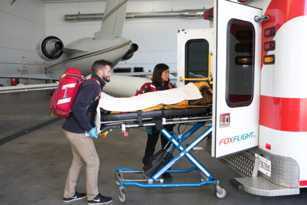 Fox Flight Patient Care Loading To Ambulance