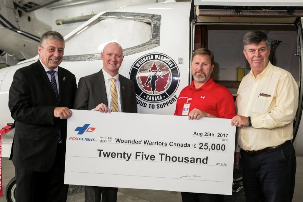 Fox Flight makes donation to Wounded Warriors Canada