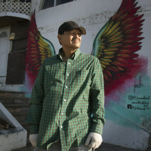 TIJUANA, CA 03-12-2019:  Mexican resident Efren Galindo looks towards Pacific ocean in the late afternoon sunlight, while standing in front of the Border Angels office in Tijuana. Galindo was held for ransom and badly beaten and left for dead years ago by Mexican gang members after he was duped by a coyote he paid off to enter the U.S. illegally. He says that stricter immigration laws and crackdowns will only lead to more violence and criminal activity, and will not stop the flow of illegal migrants entering the U.S.