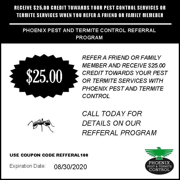 $25 OFF Pest Control Referral Coupon