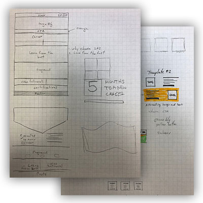 Divers Academy Wireframes