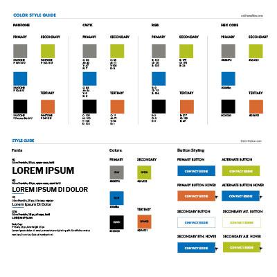 Eddie Mellon website style guides