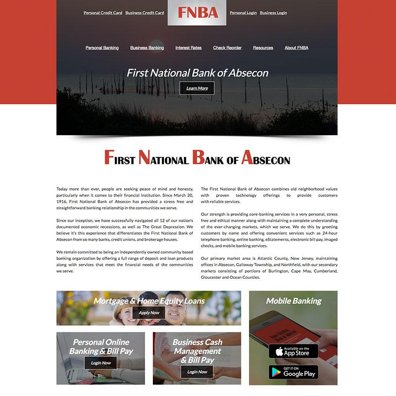 FNBA website development