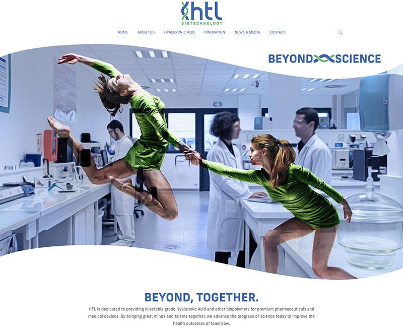HTL Biotech website development