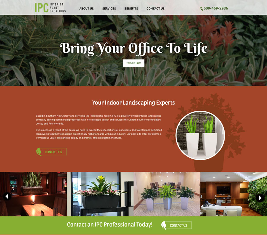 Interior Plant Creation website design