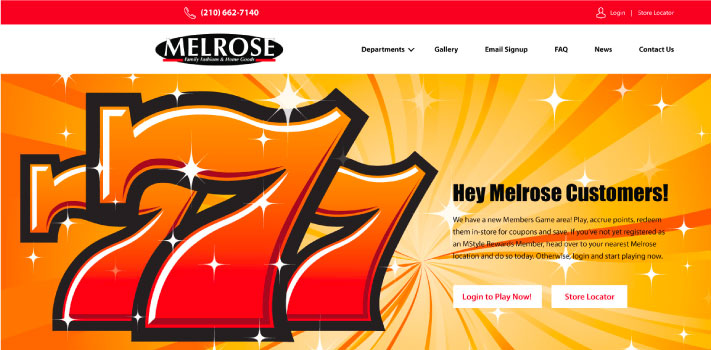 Melrose Family Fashion Website Design