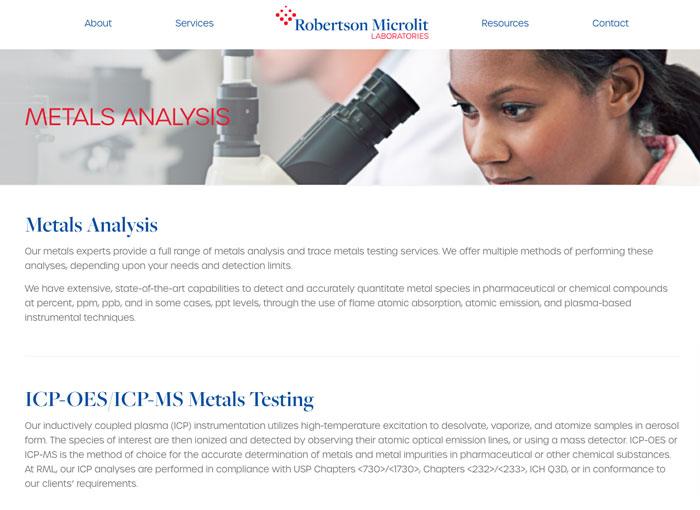 Robertson Microlit Tertiary Page Layout