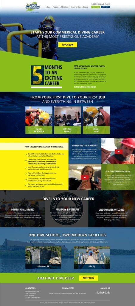 Divers Academy Website