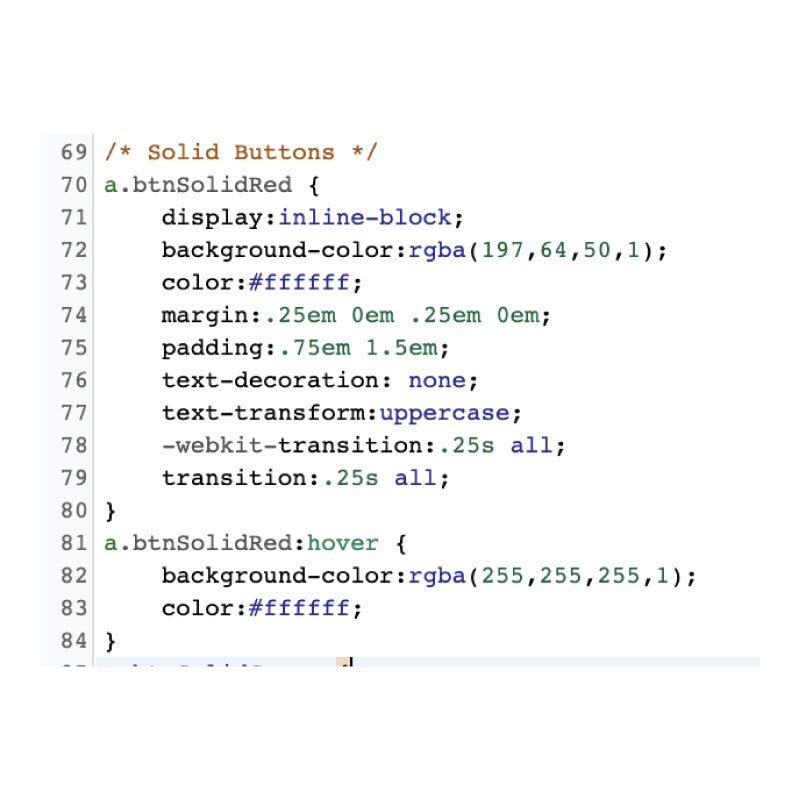 CSS Button Code Snippet