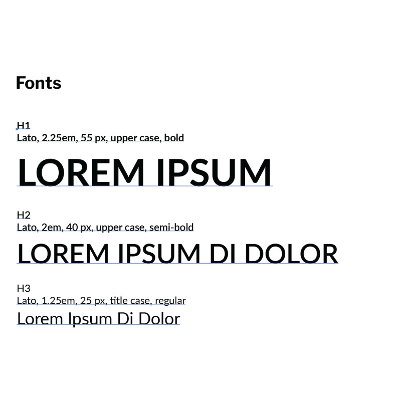 Defined Font Styling and Usage Guide