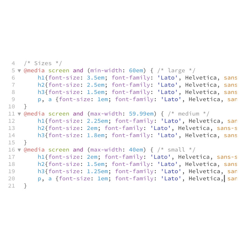Font Style Code Snippet
