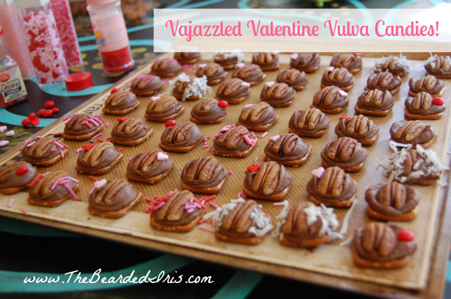 A Variety of Vajazzled Valentine Vulva Candies by The Bearded Iris