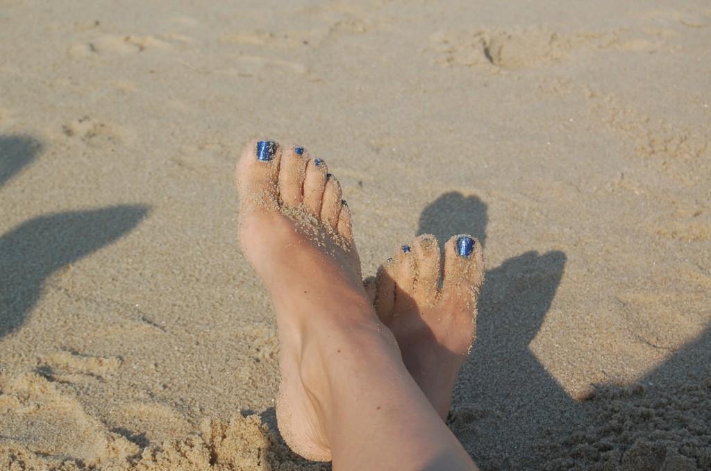 Iris has lovely feet.
