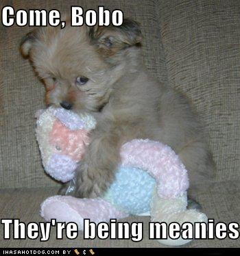 Come Bobo, they're being meanies.