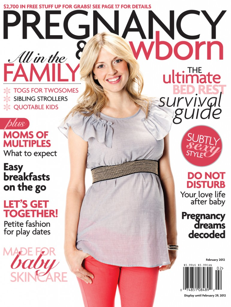 pregnancy and newborn magazine cover feb 2012