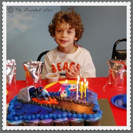 bucket head on his 5th birthday
