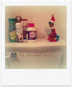 Elf on the Shelf Dobbie on the crapper by The Bearded Iris