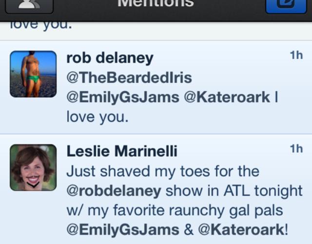 rob delaney loves the bearded iris on twitter