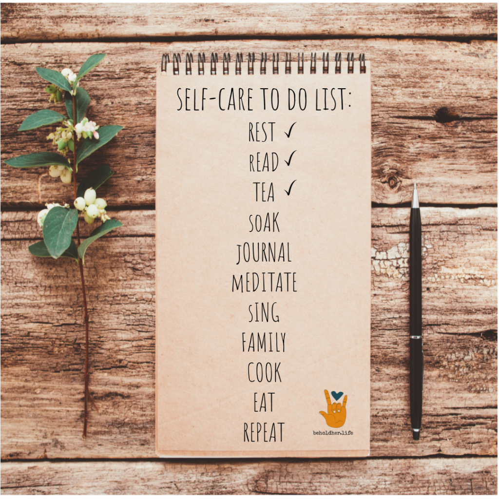 beholdher.life blog no 7 the mother guilt effect self-care to do list