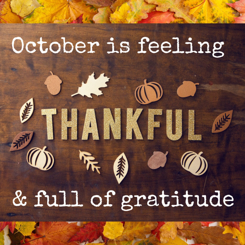 October Gratitude and Giving Thanks - beholdher.life