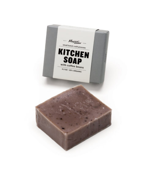 Kitchen Soap Made with Coffee Beans - Hand Cu