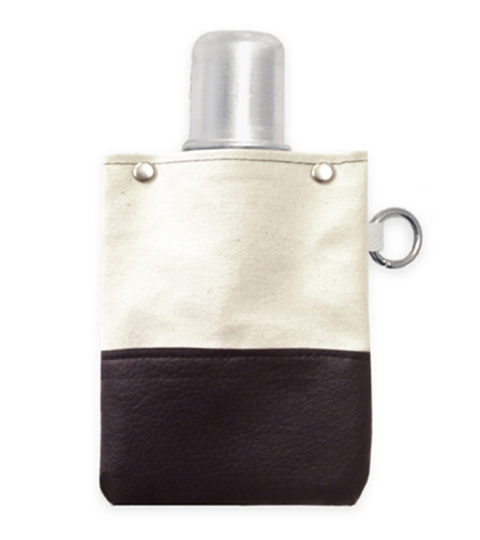 Canvas Canteen - Black - Flask Front