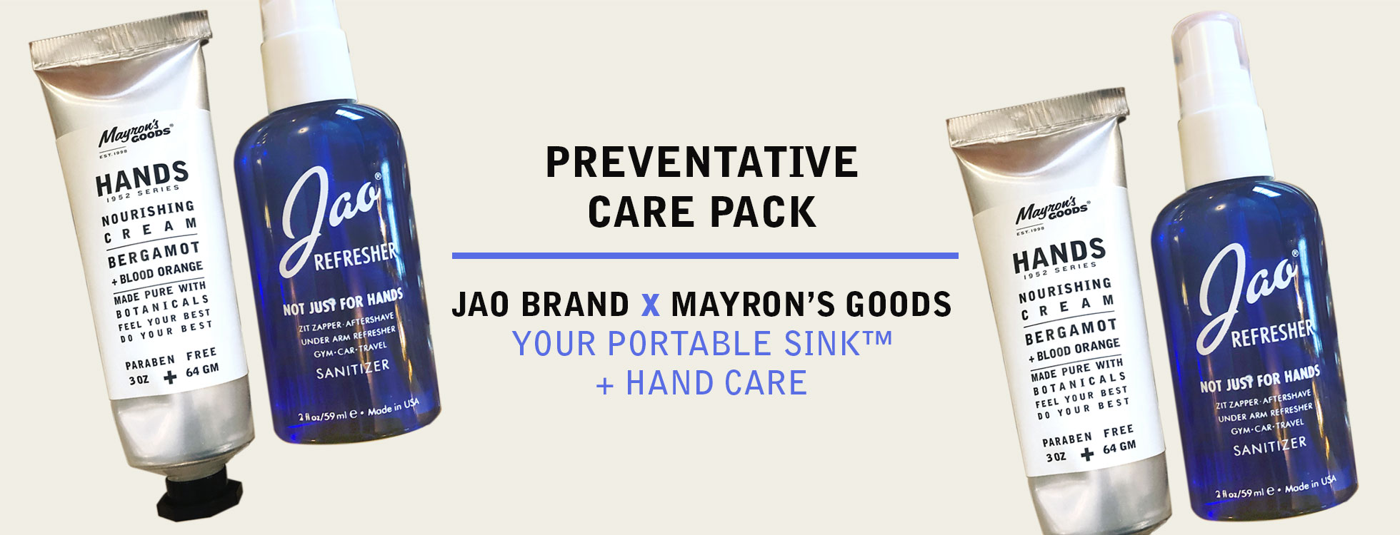 Jao Hand Sanitizer CONTAINS 65% ETHYL ALCOHOL PLUS ESSENTIAL OILS.
