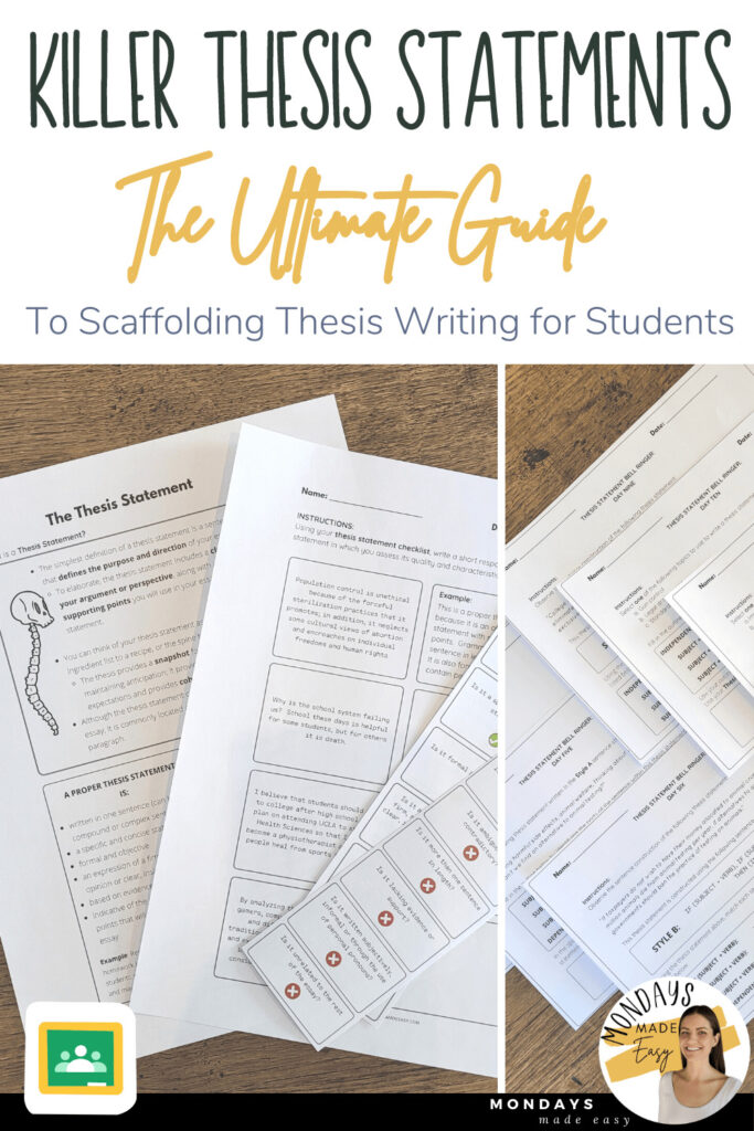 Killer Thesis Statements: The Ultimate Guide to Scaffolding Thesis Writing for Students