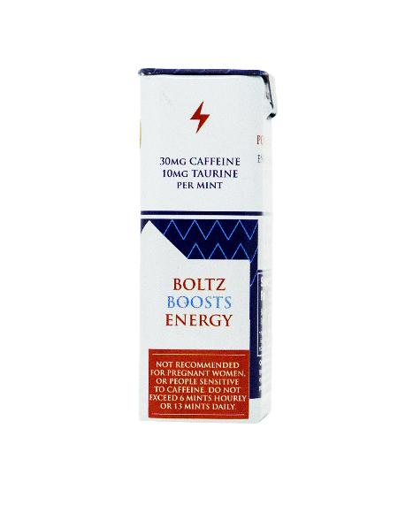 boltz energy hemp cbd mints   steve mints 30MG caffeine energy crafted mints