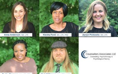 Counselors Associates Welcomes 5 New Staff Therapists