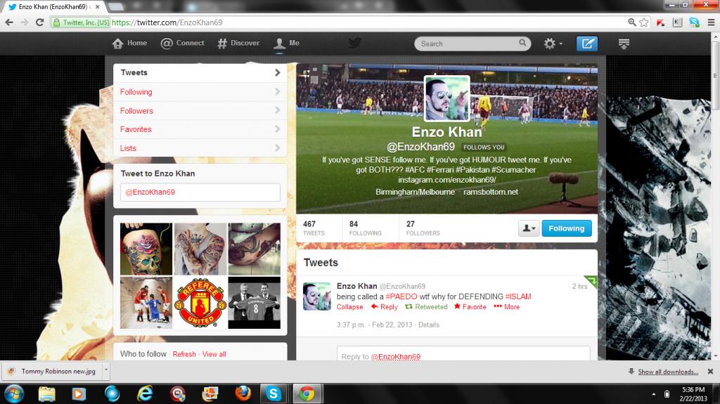Enzo Khan pedo supporter