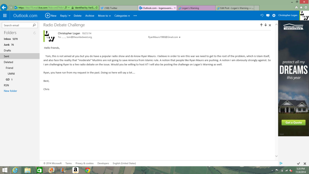 Email to Ryan