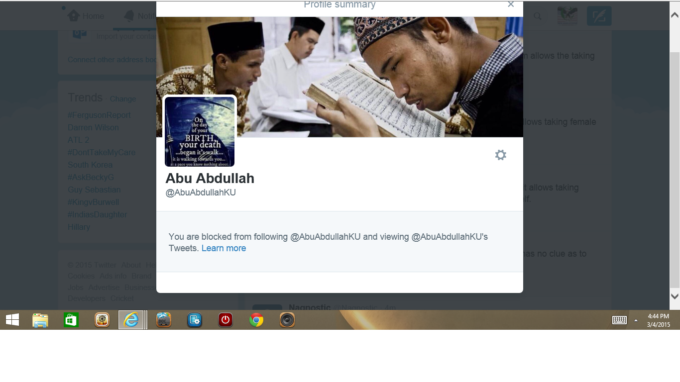 Blocked by 2 Abu
