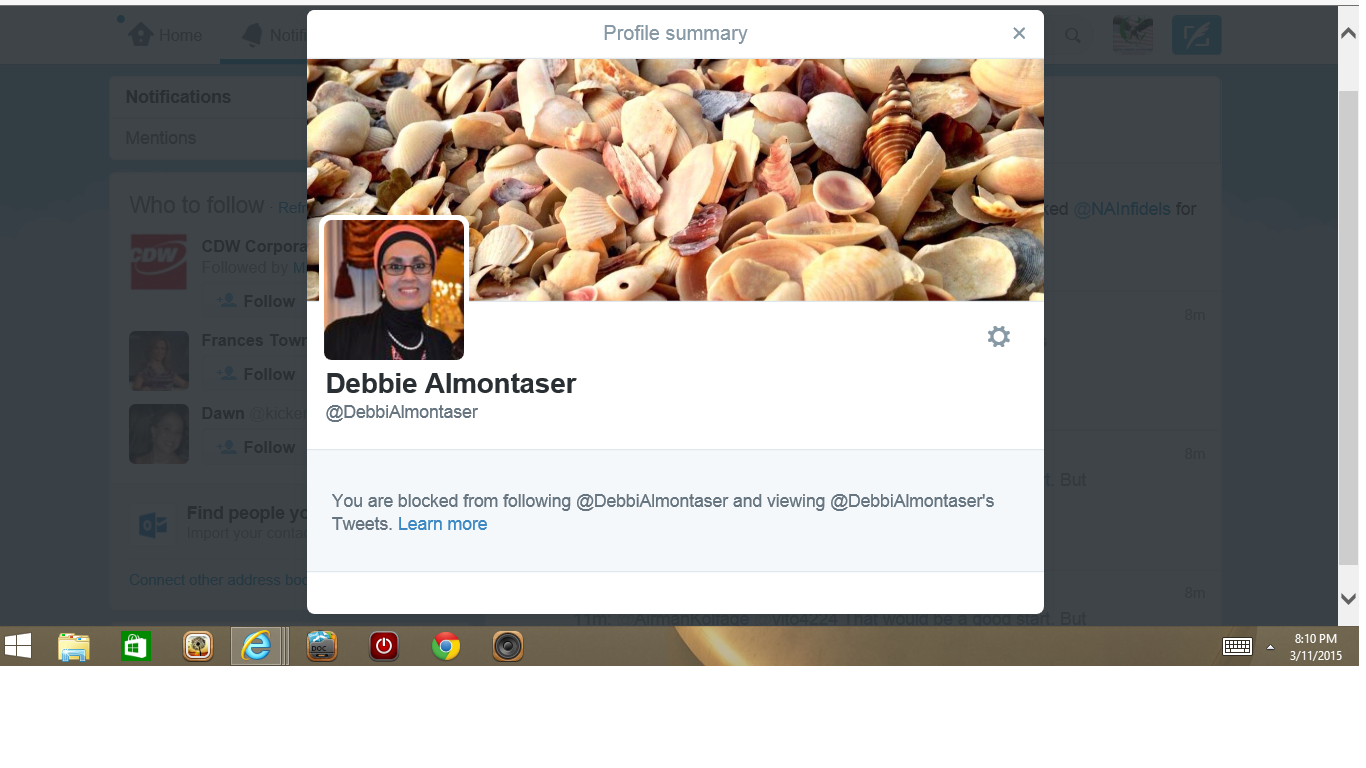 Blocked by 3 Debbie Almontaser