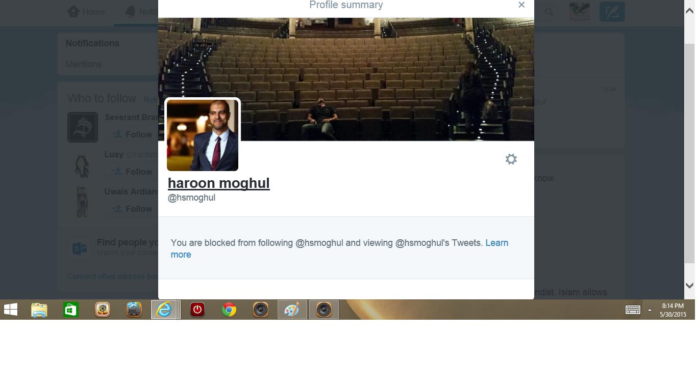 Blocked by 3 Haroon Mogul
