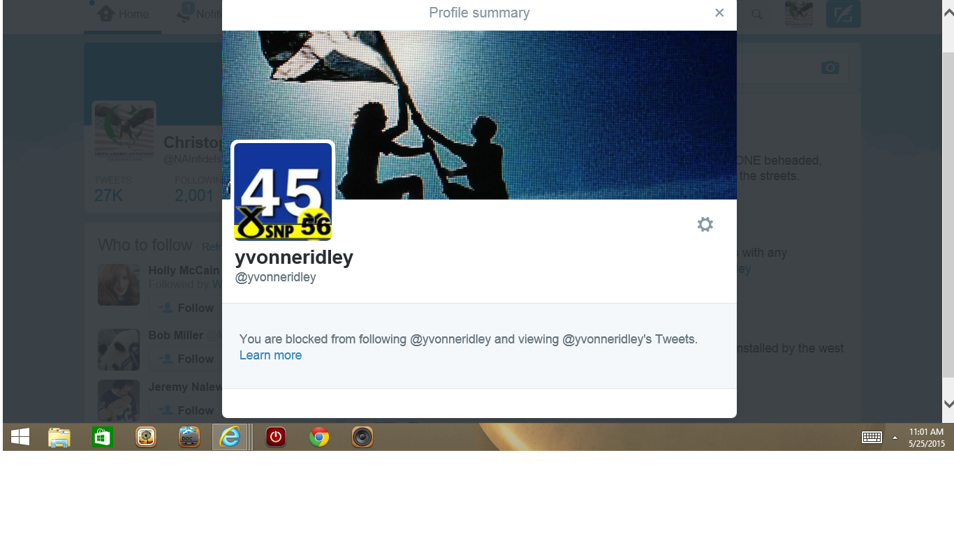 Blocked by 3 UK Yvonne Ridley