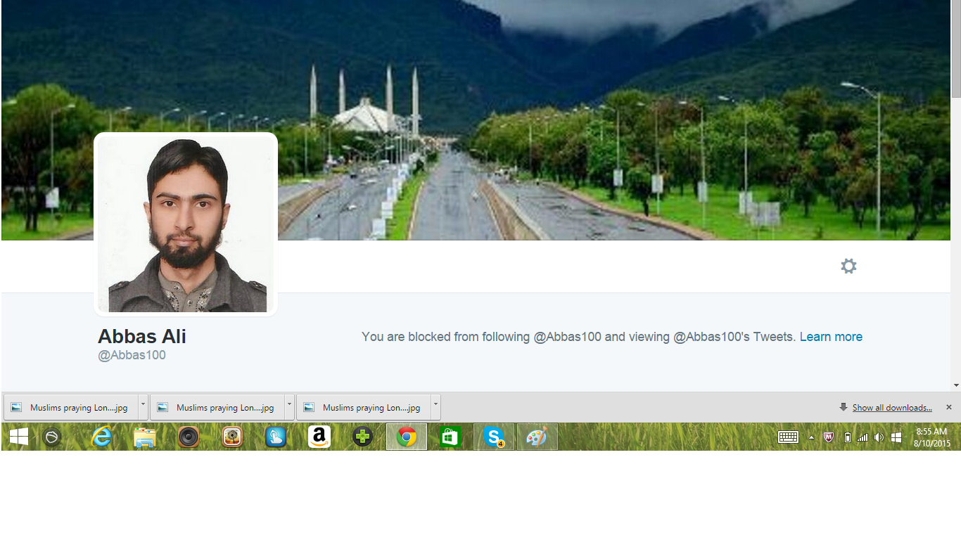 Blocked by 5 Abbas Ali