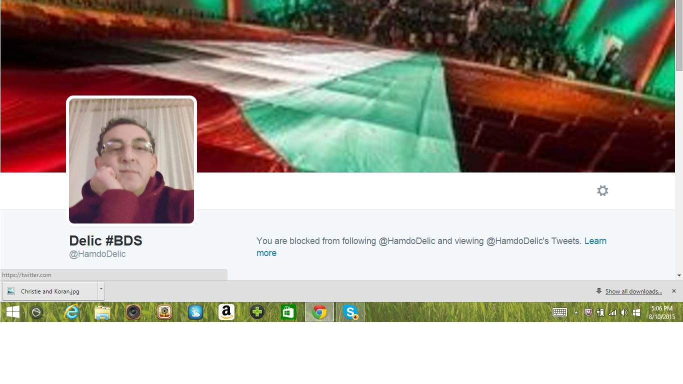 Blocked by 5 Delic #BDS
