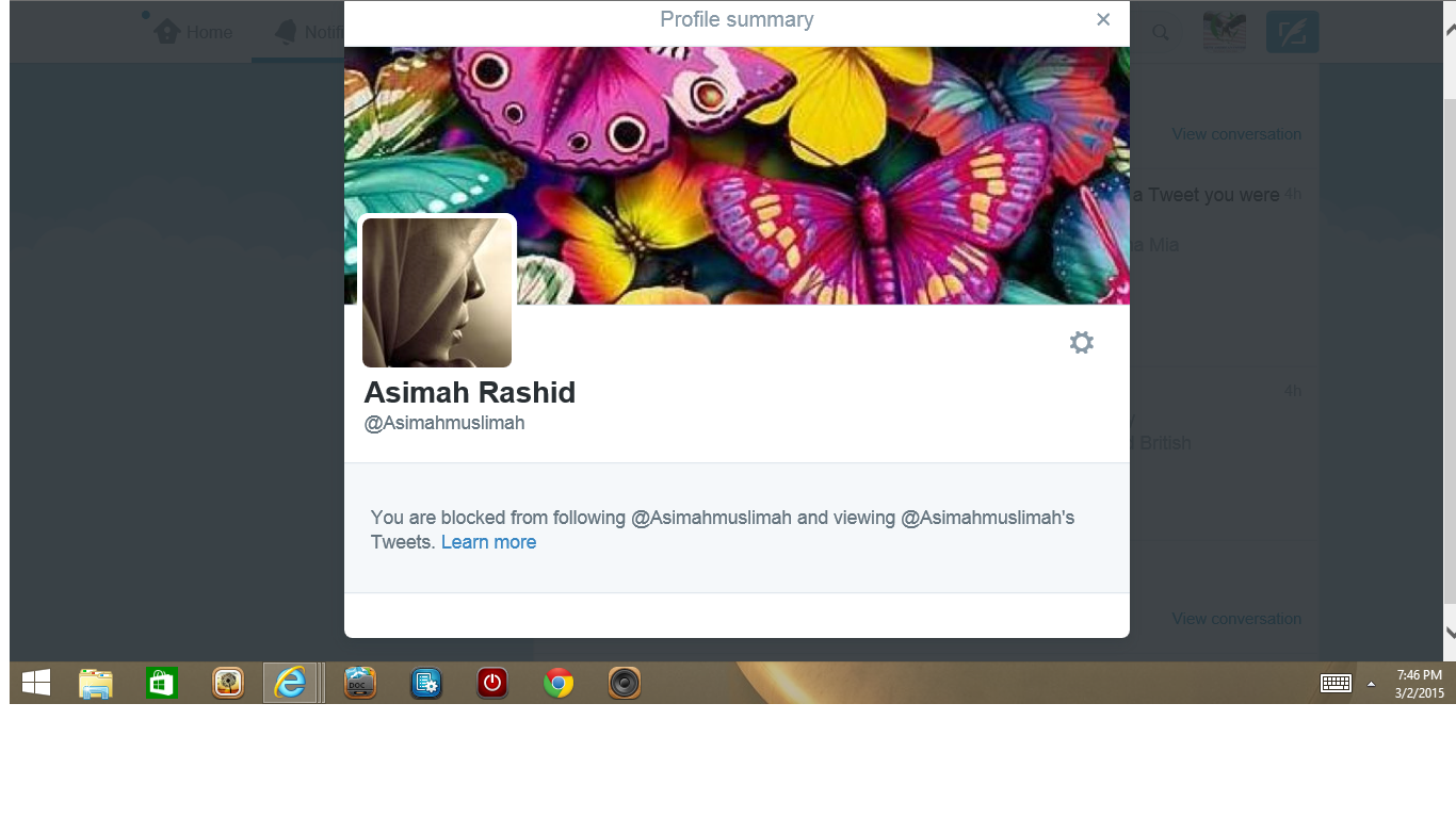 Blocked by Asimah Rashid