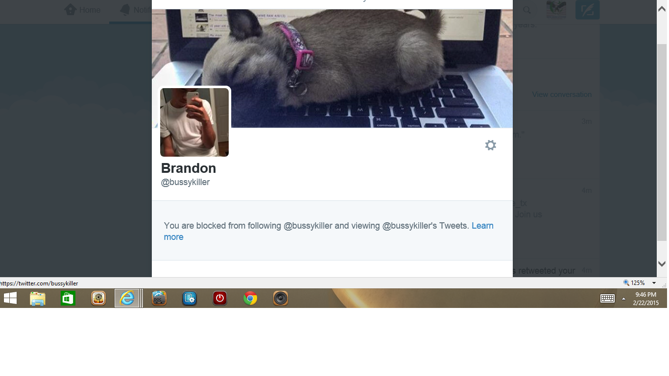 Blocked by Muslim Brandon