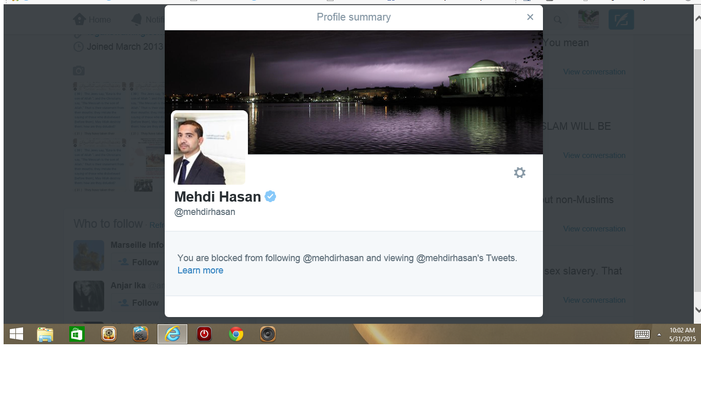blocked by 3 mehdi Hassan