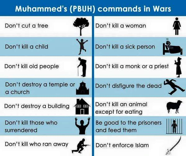 Mohammads Commands in Wars